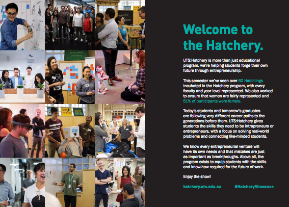 UTS:Hatchery Autumn 2017