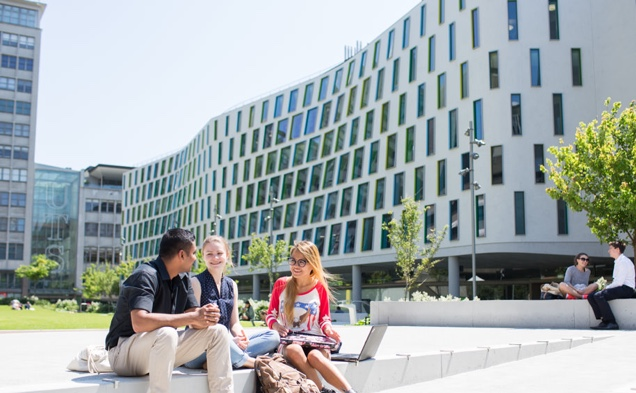 UTS International students sitting on grass