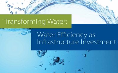 Transforming water: water efficiency as infrastructure investment