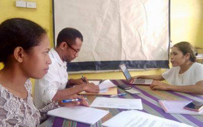 UNTL researchers hard at work conducting civil society organisations interviews