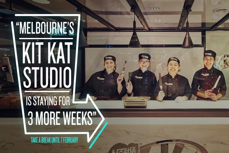KIT KAT Studio is staying in Melbourne for another three weeks