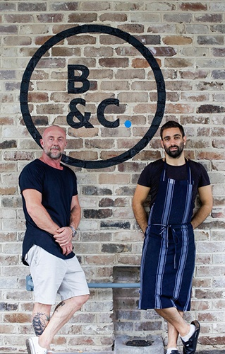 Barista & Cook - Owner Alan Thompson and Cook Adrian Borg