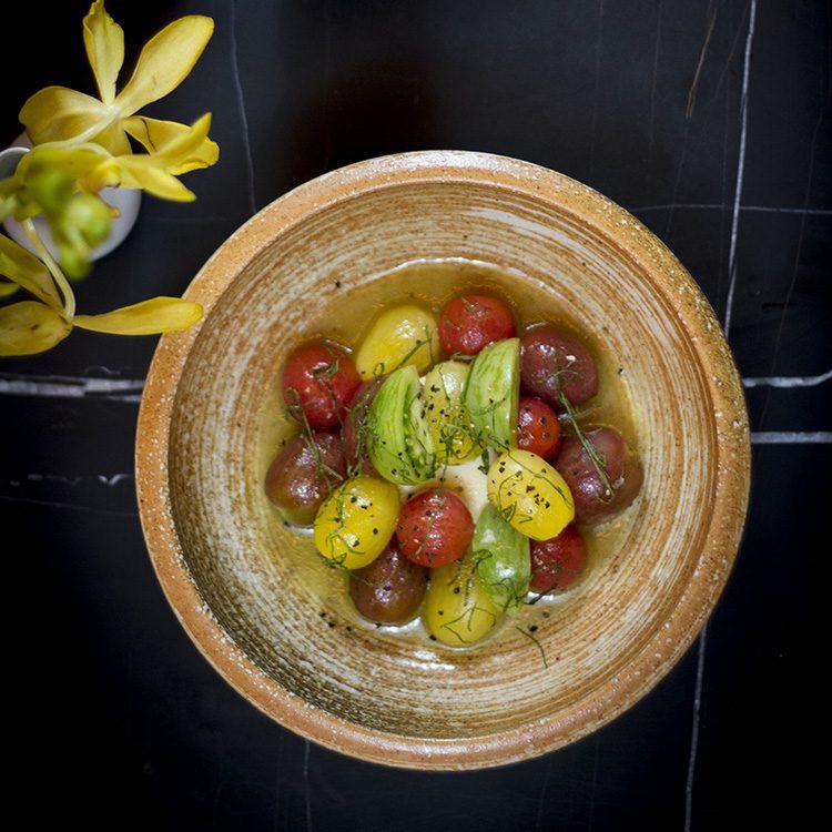 Sake - Handmade Tofu with Heritage Tomatoes