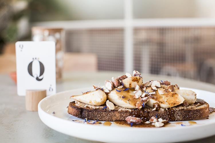 The Rabbit Hole - Almond Butter Banana chai chia topped toast