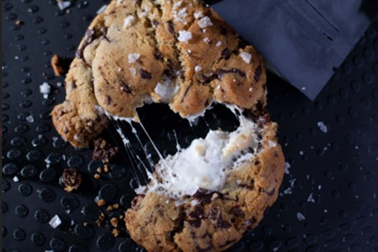 salted chocolate marshmallow cookie