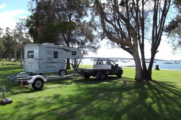 Image credit: Lake Macquarie: Camping, caravans & cabins