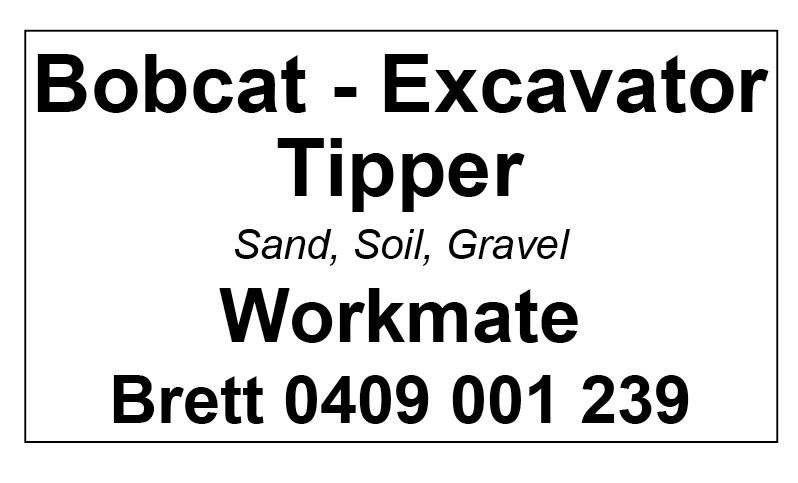 Workmate Bobcat Excavator Tipper image