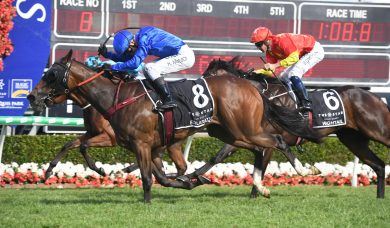 Exhilarates storms home to win 2019 Magic Millions 2yo Classic