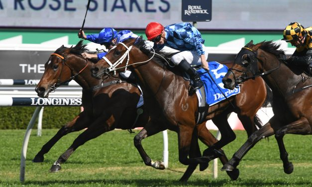 Funstar wins 2019 Tea Rose Stakes in 3 way photo