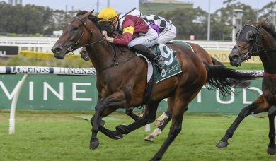 Shout The Bar scores all the way win in the 2020 Vinery Stud Stakes