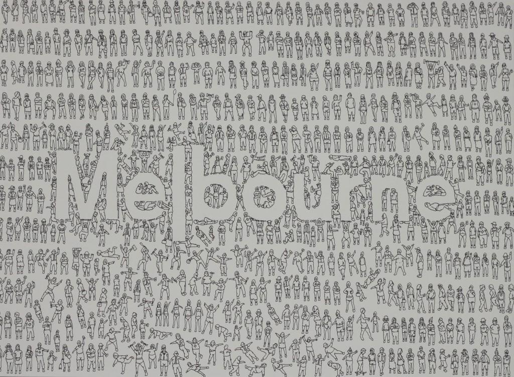 Eddie Botha, Melbourne. 56 x 76cm, Indian Ink on 640 gsm fabiano paper, October 2015