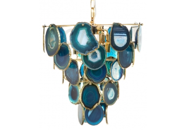 Cafe Lighting and Living - Brazilian Blue Agate Chandelier