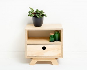 Felix Furniture - The Rocco Side Table Cabinet. Hoop Pine Plywood
