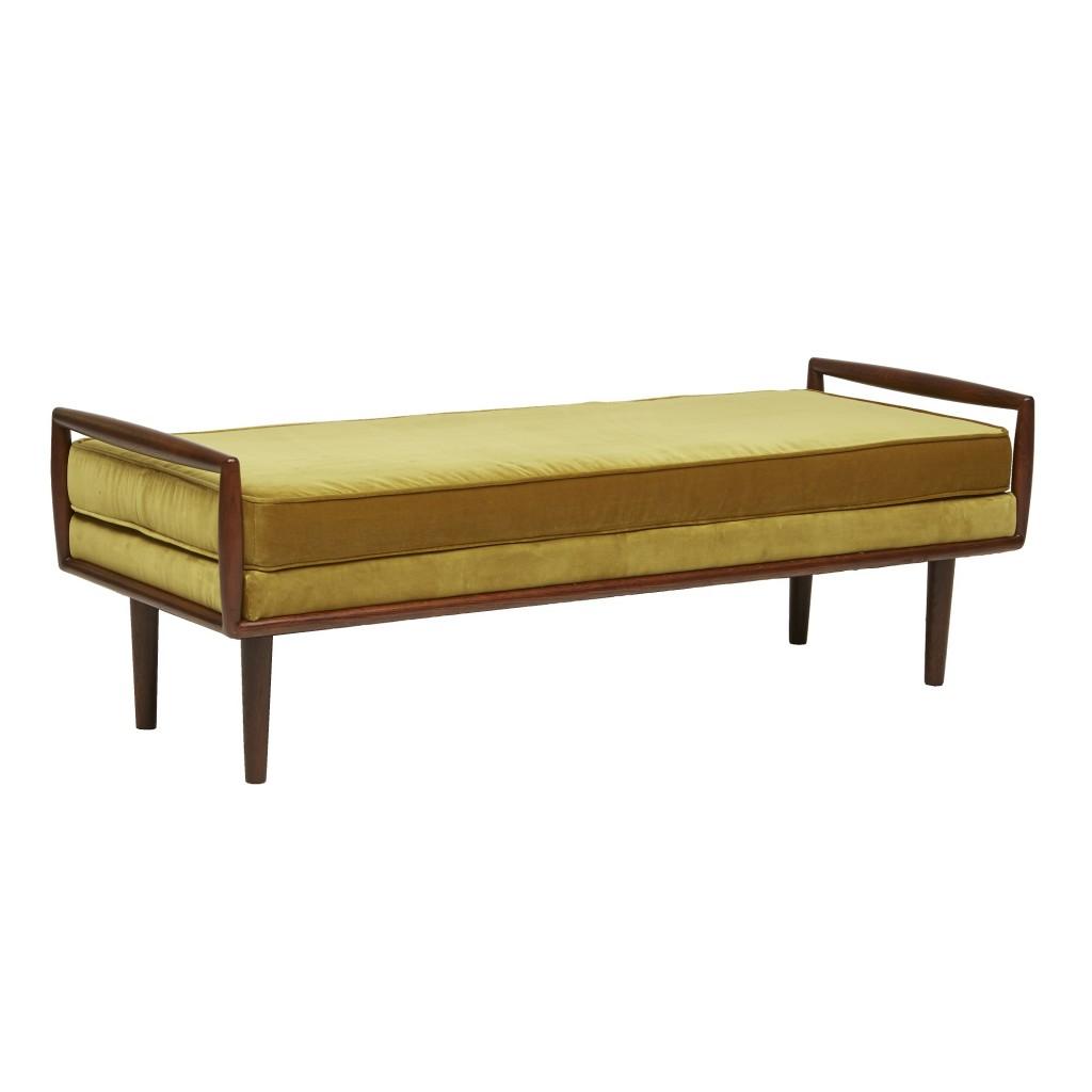 The Gold Velvet Bogart Bench, GlobeWest Collections 2018