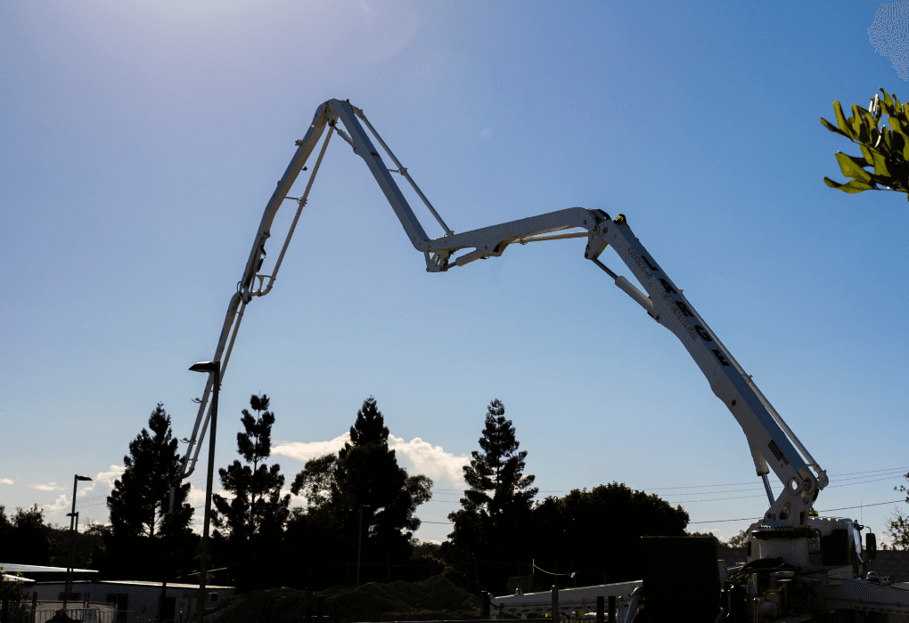 large concrete pumping fleet and equipment