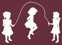 Three Girls Skipping