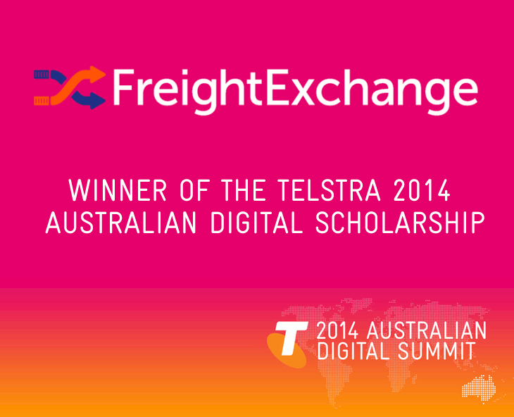 FreightExchange wins Telstra Australian Digital Scholarship