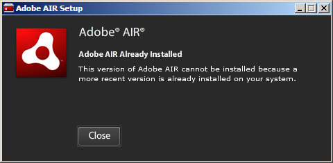 more-recent-air-already-installed-notification