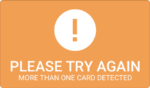 """More than one card detected"""