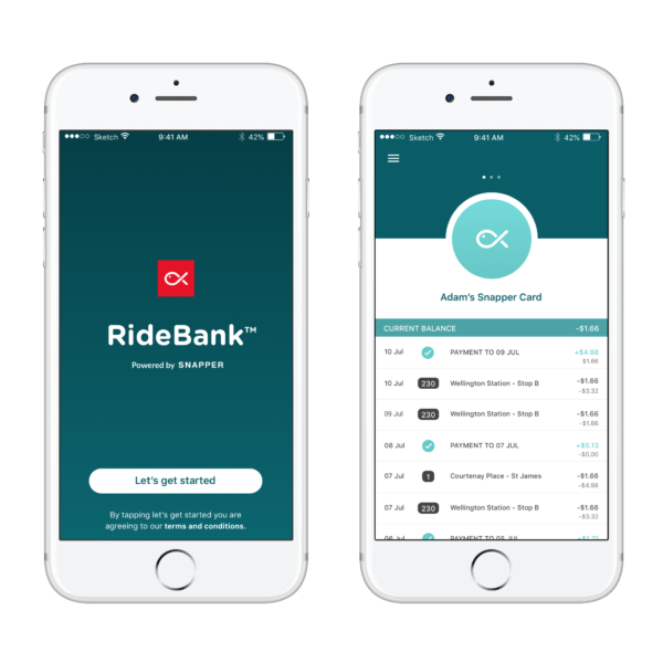 Image of phones with RideBank