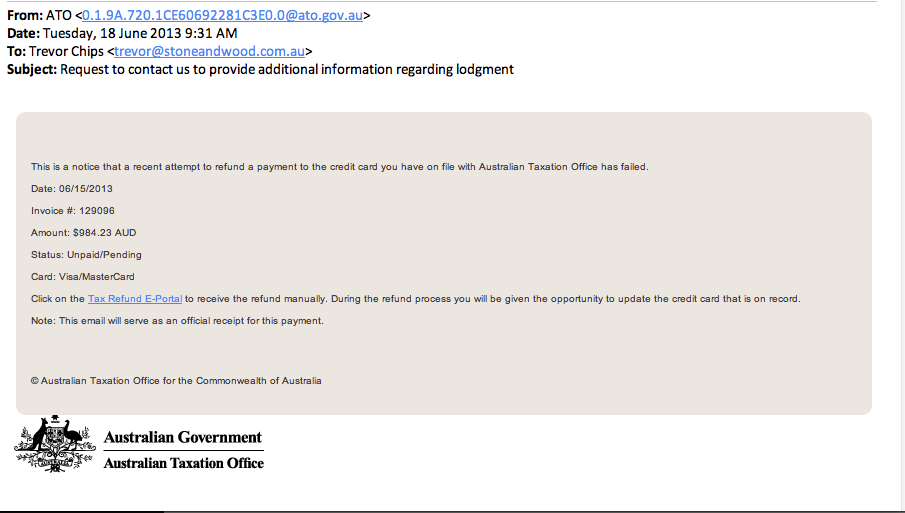 Ato Fraud Email Warning From Cbia Beer Brewer