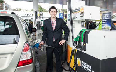 Green-MP-Gareth-Hughes-fills-first-car_new