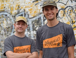 (l-r) Wayward founder Peter Philip and head brewer Shaun Blissett