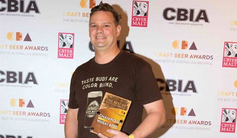 Feral Brewing Company's Brendan Varis at the Craft Beer Awards