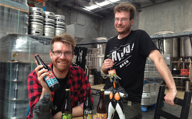 The KAIJU! Beer boys Callum and Nat Reeves