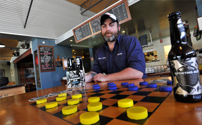 Thirsty Crow's Craig Wealands. Image courtesy of Daily Advertiser