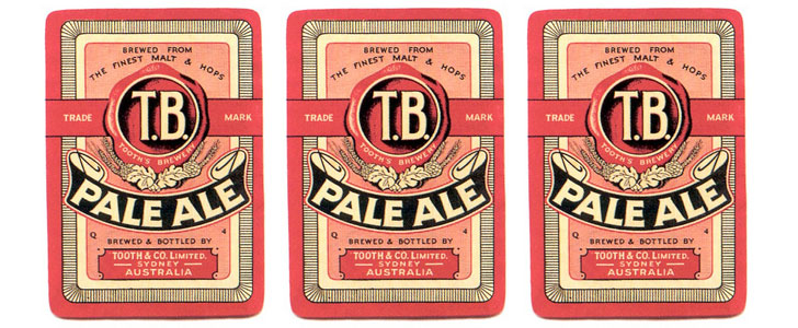 The old Tooth's Pale Ale label design