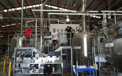 Inside Colonial's Port Melbourne brewery