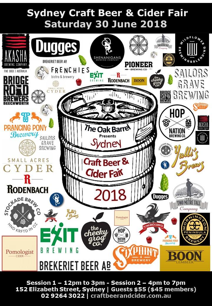 SydneycraftBeer&CiderFair2018