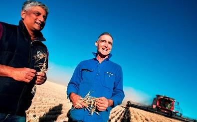 Farmer John Bennett and Jai from Asahi