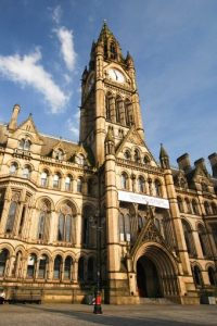 Take IG-worthy shots at Manchester Town Hall.