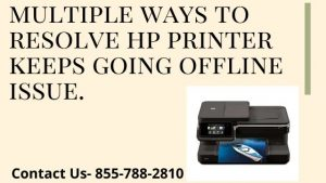 hp printer keeps going offline