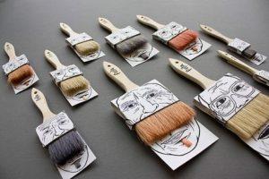 Mustache Paintbrush