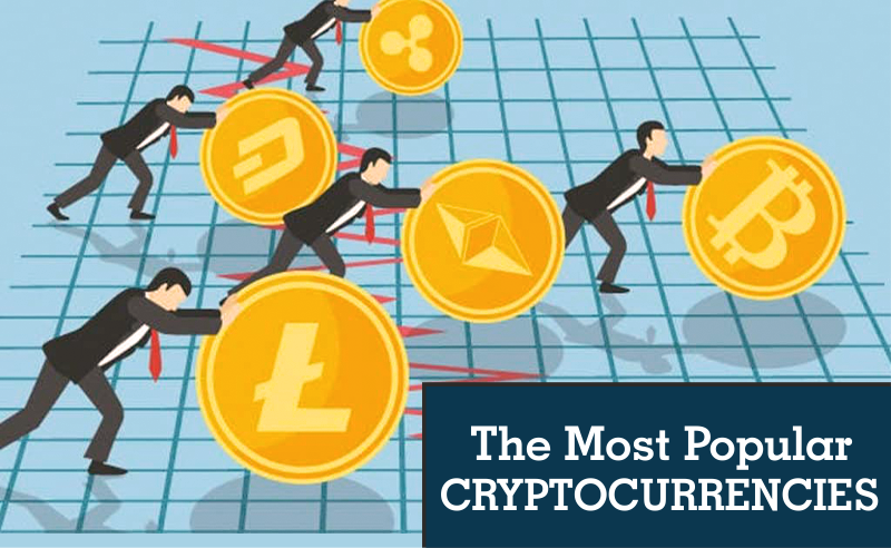 The most popular cryptocurrencies