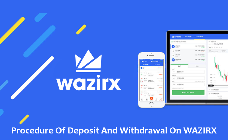 Procedure of deposit and withdrawal on