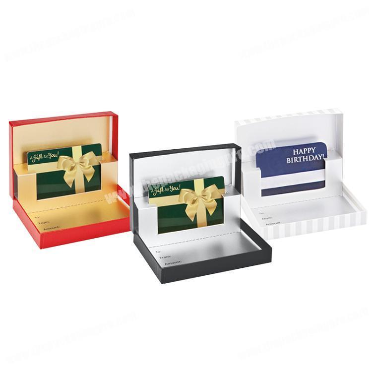 Custom gift card boxes