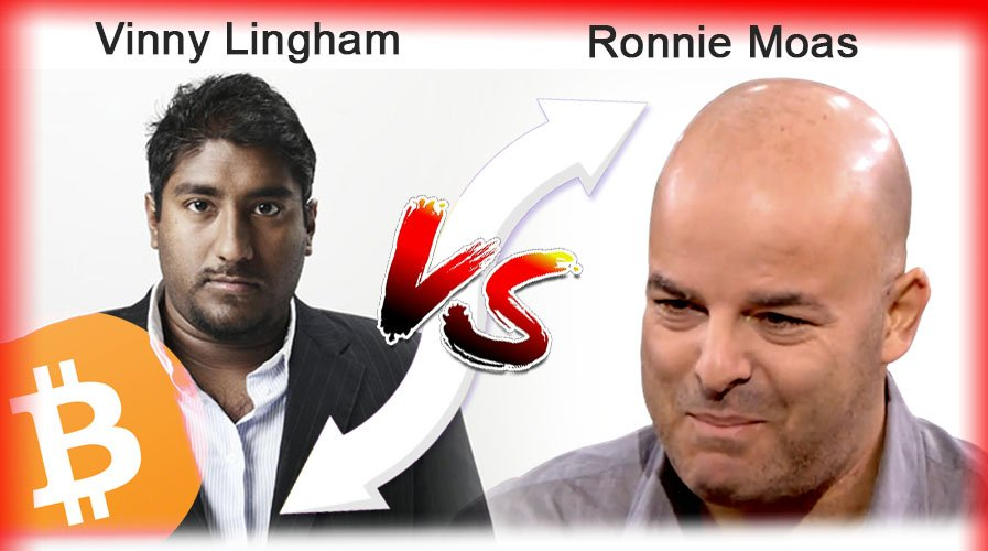 Vinny Lingham and Ronnie Moas Come to Blows Over $20K Bitcoin Bet