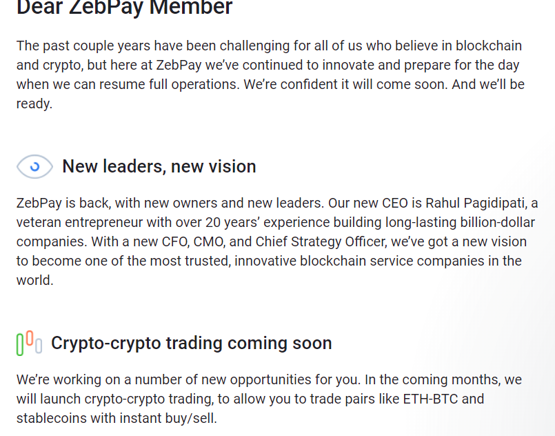 ZebPay Crypto Exchange To Make India Return in 2020
