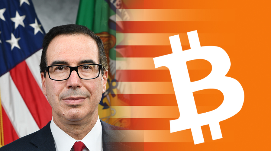 Steven Mnuchin's Statement Blamed by Few For Bitcoin's Slump