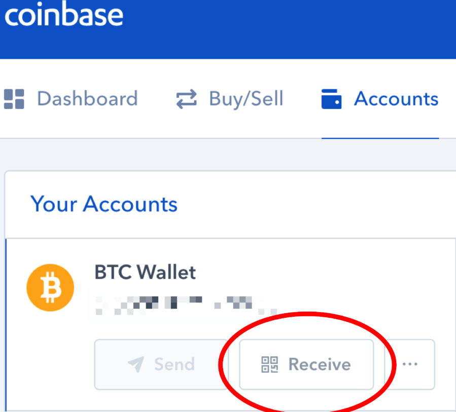 Receive on Coinbase