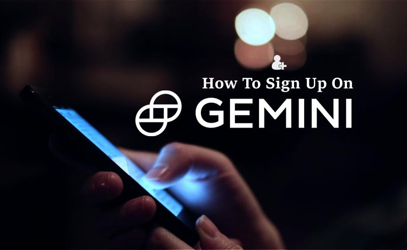 sign up on gemini