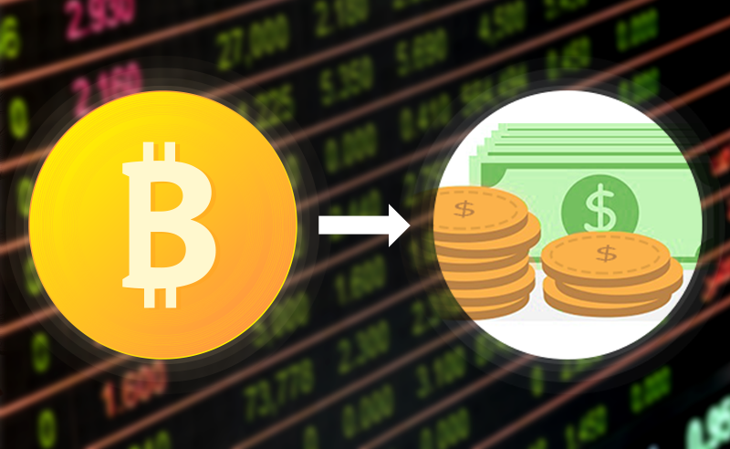 On exchange method to cash out bitcoin