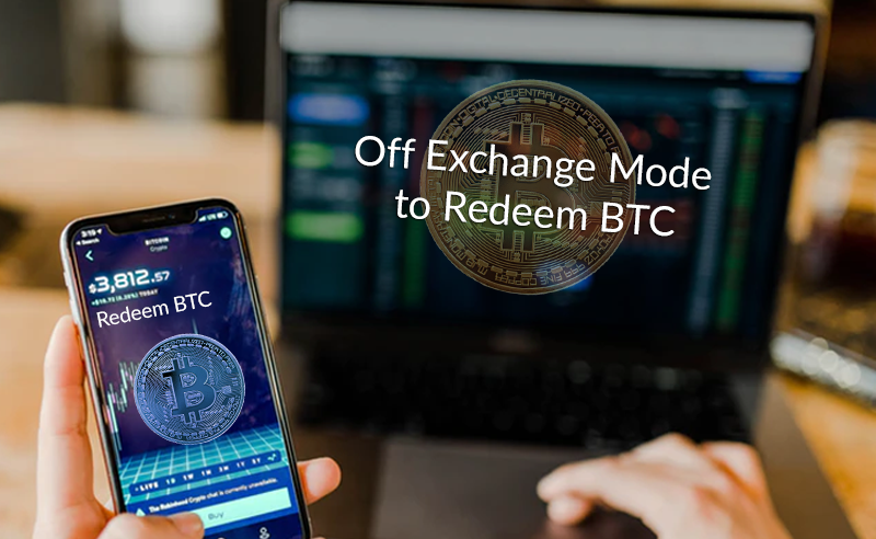 Off exchnage mode to cash out bitcoin