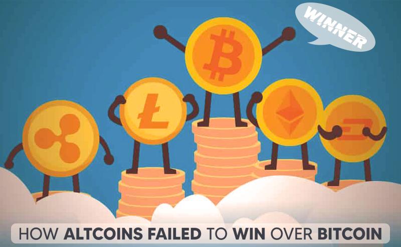 How Altcoins Failed To Win Over Bitcoin