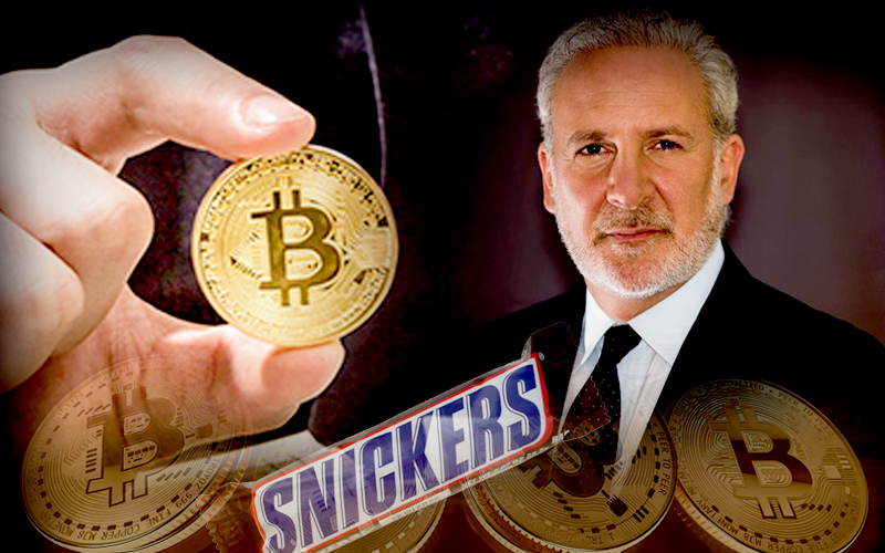 Peter Schiff Believes in 10 Years $12.8M Bitcoin Won't Buy a Sneakers Bar