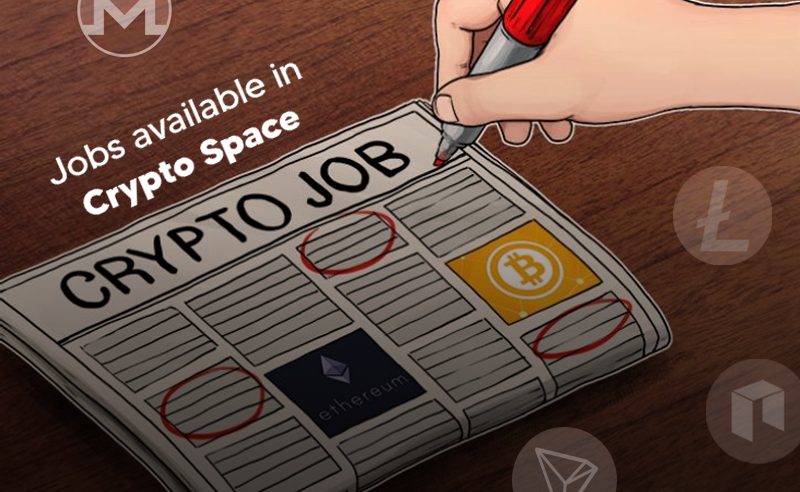 Jobs available in crypto space